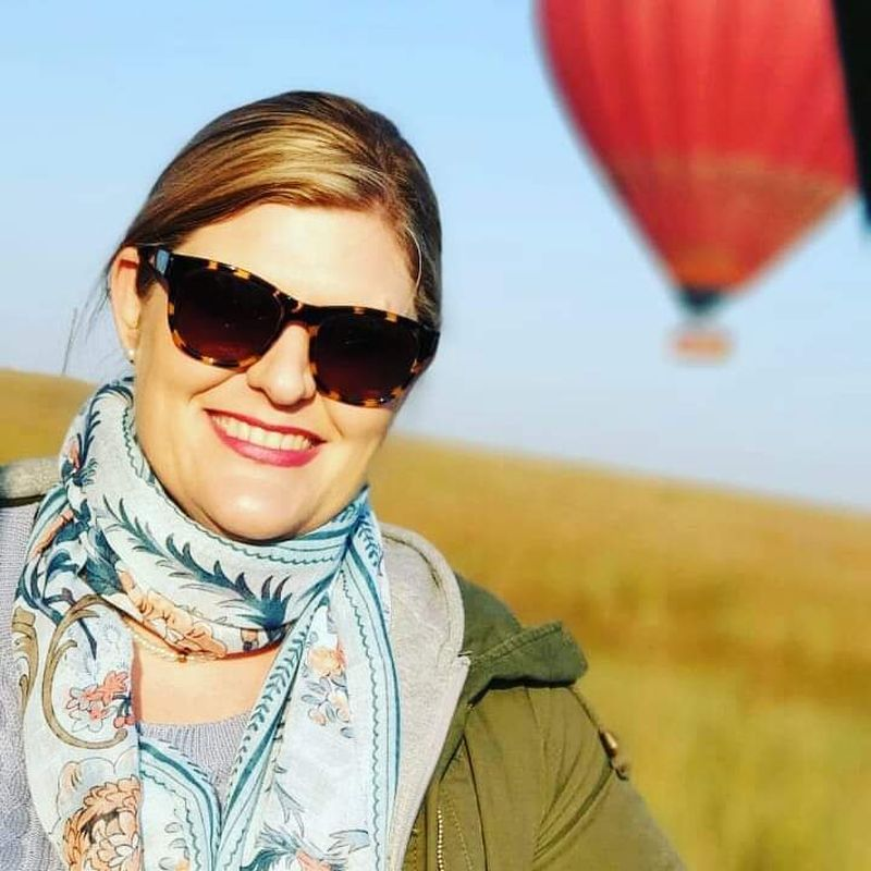 Candi with hot air balloon